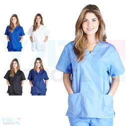 Unisex Men/Women Classic Scrub Top Medical Nursing Hospital