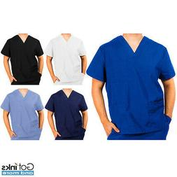 Unisex Men/Women Medical Hospital Nursing 3-Pockets Scrub V-