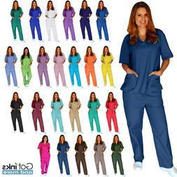 Unisex Men/Women Natural Uniforms Medical Hospital Nursing S