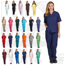 Unisex Men/Women Natural Uniforms Medical Nursing Scrub Set