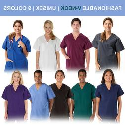 Unisex Men/Women Medical Hospital Nursing Scrub Top V-Neck U