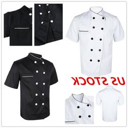 US Chef Uniform Unisex Kitchen Restaurant Cook Working Coat