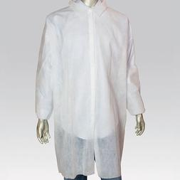 Royal White Poly Pro Lab Coats, Size 9XL, Package of 30