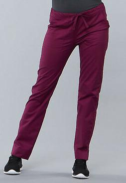 wine scrubs workwear core stretch slim drawstring