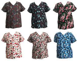 7f709d3888a Life Line Women's Fashion Nursing Scrub Tops Printed Medical