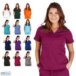 UltraSoft Junior Fit Women's V-Neck Mock Wrap Scrub TOP ONLY