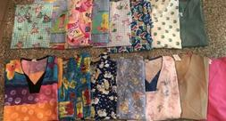 Women's Medical Tops Nursing Uniform Printed Fashion Scrubs