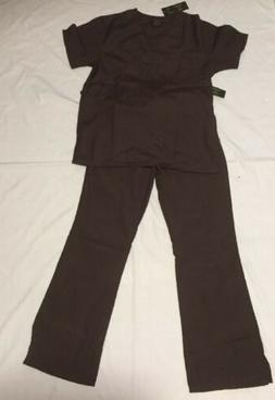 Natural Uniforms Women's Mock Wrap Scrub Set Set uniform Top