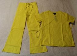 Natural Uniforms Women's S/S Mock Wrap Scrub Set DD5 MM001 Y
