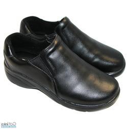 Women's Slip-On Leather Nursing Shoes Natural Uniforms Mediu
