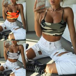 Women's Summer Sexy Tank Crop Top Sleeveless Vest Off Should