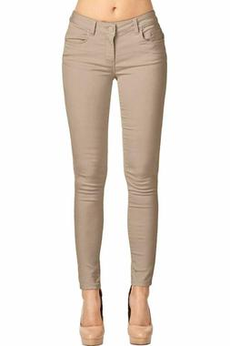 2LUV Women's Trendy Skinny 5 Pocket Stretch Uniform Pants