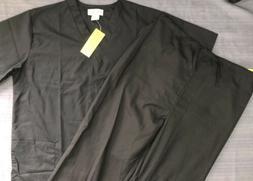 Womens Natural Uniforms Comfort Dark Blue 2 Pc Scrubs Set Si