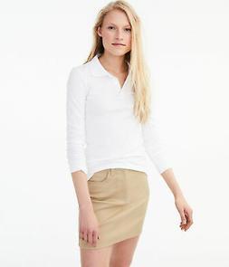 aeropostale womens long sleeve solid uniform pique polo