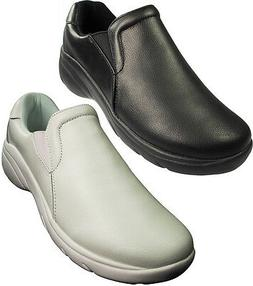 Natural Uniforms Womens Premium Leather Work Medical Slip On