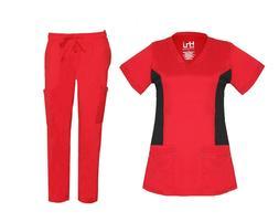 Womens STRETCH Medical Hospital Nursing Uniform Scrub Set To