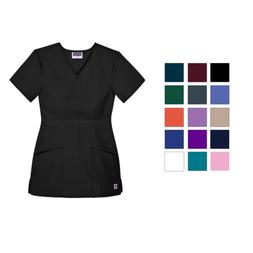 womens uniforms mock wrap nurse medical scrub