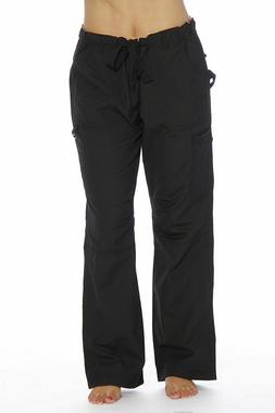 Just Love Womens Utility Solid Scrub Pants.  Utility Black.