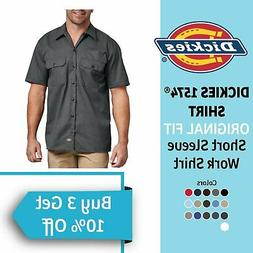 Dickies Original Work Shirt 1574 Men's Button Up Dress Wrink