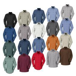 Red Kap Work Shirt Solid Color 2 Pocket Men's Industrial Uni