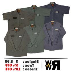 Red Kap Work Shirts 2 Pocket Microcheck Short & Long Sleeve