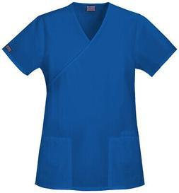 WorkWear 4801 Women's Mock Wrap Tunic Medical Uniforms Scrub