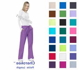 Cherokee Workwear PETITE Womens Nurse Scrub Pants  Style 410