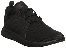 adidas Originals Boys' X_PLR J Running Shoe, Black, 4 Medium