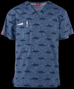 {XL} Dickies Men's Medical Uniform Scrub Top SHWK DK725