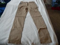 Nautica Young Men's Uniform Flat Front Stretch Twill Pant,28