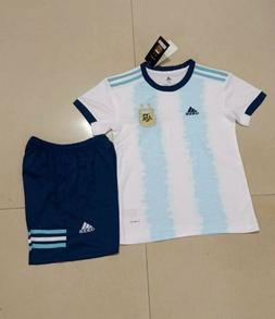 Youth 2019 Copa America Argentina Home Uniform,Jersey+Shorts