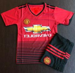 youths kids Manchester United soccer football uniforms
