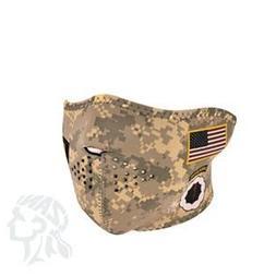 Zan Headgear Neoprene 1/2 Face Mask, U.S. Army, Combat Unifo